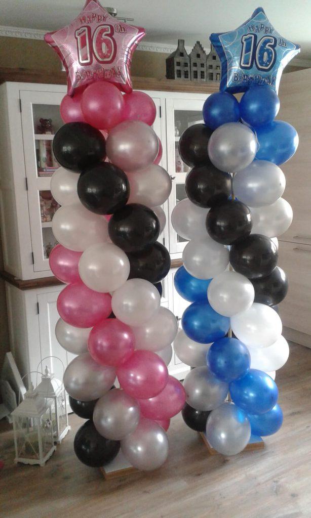 Ballonpilaar met topballon