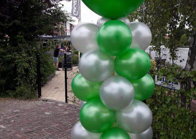 Ballonnenpilaar groen